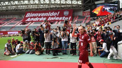 Duizenden fans verwelkomen Andrés Iniesta (die recordbedrag opstrijkt bij Vissel Kobe) in zijn nieuw stadion