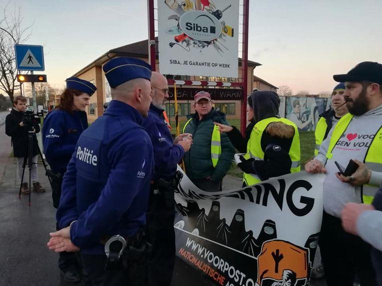 De Aarschotse politie was ter plaatse om het verloop in goede banen te leiden.