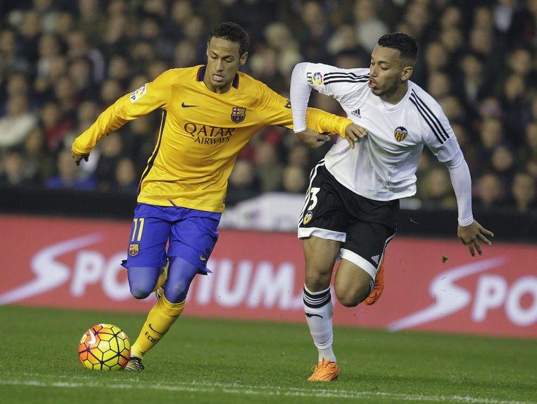 Neymar aan de bal. Beeld reuters
