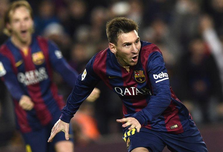 Messi tijdens een wedstrijd tegen Atletico de Madrid. Beeld afp