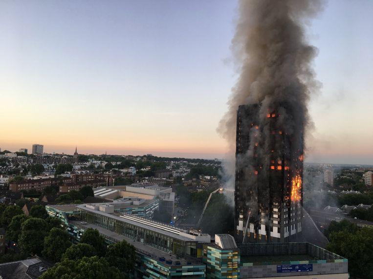 De brand in de Grenfell Tower in Londen kostte het leven aan 71 mensen.
