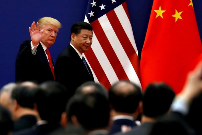 De Amerikaanse president Donald Trump en de Chinese president Xi Jinping