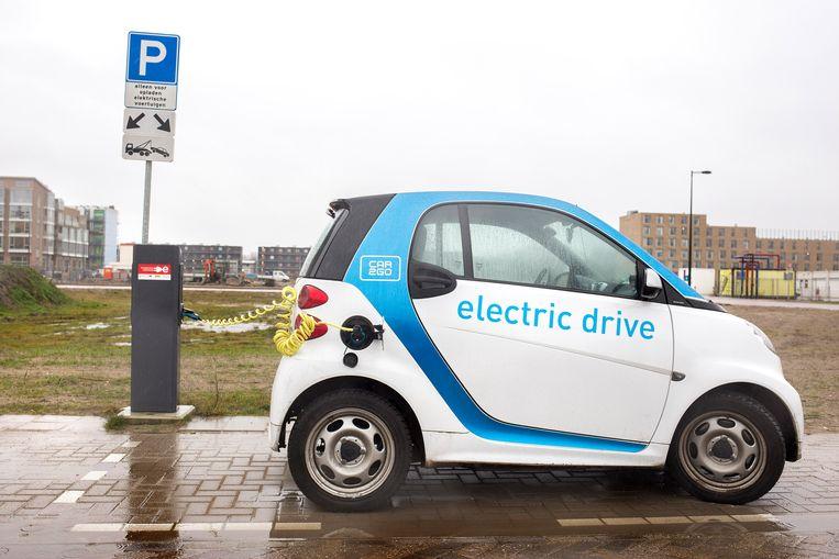 De elektrische Smart van Car 2 Go. Beeld null