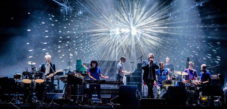 LCD SOUNDSYSTEM op 21 augustus 2016 tijdens muziekfestival A Campingflight to Lowlands Paradise. Beeld anp