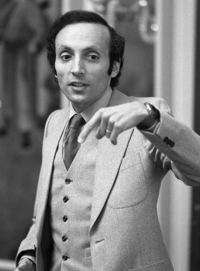 Erich Segal tijdens een lezing op 13 oktober 1980. Foto AP Beeld
