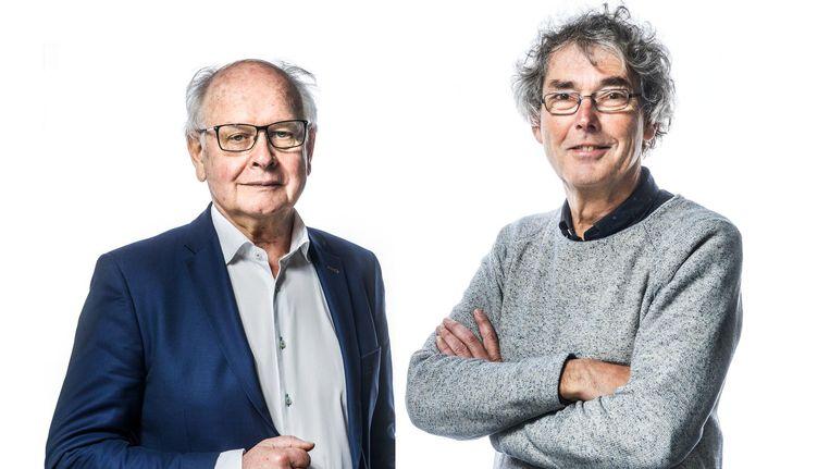 Menno Iprenburg en Jan Willem Elkhuizen. Beeld Adrie Mouthaan.