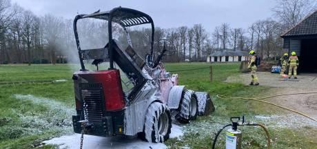 Shovel vat vlam op landgoed Salentein in Nijkerk