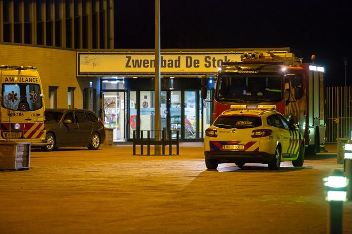Hulpdiensten bij De Stok in Roosendaal.