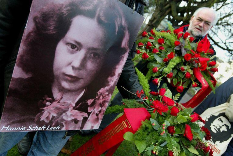 De jaarlijkse herdenking van Hannie Schaft in Haarlem. Beeld ANP