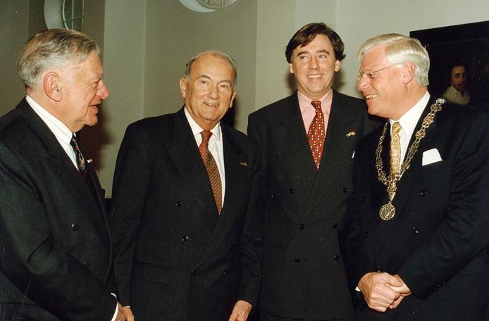 Burgemeesters van Breda. V.l.n.r. Willem Merkx, Frans Feij, Ed Nijpels en Chris Rutten Foto Johan van Gurp
