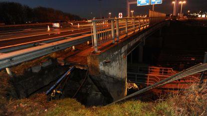Nog zeker een week verkeersproblemen op A201 door grondverzakking Diegem