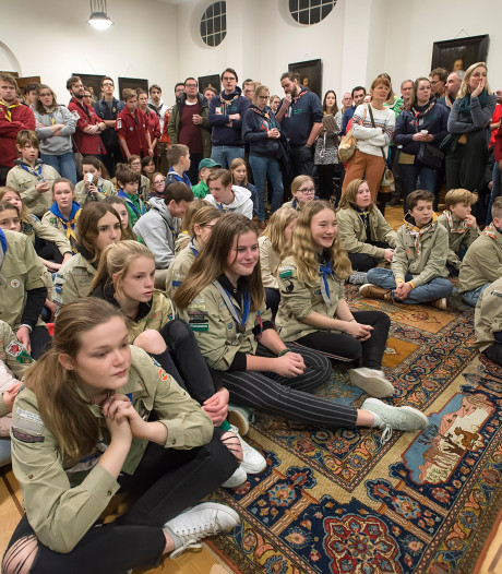 Scouting Breda in massaal protest 
