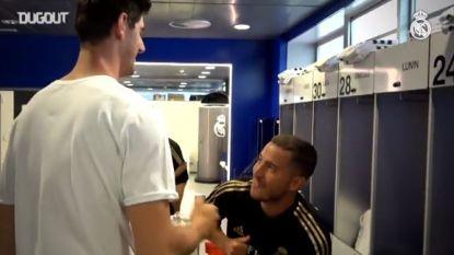 Nog geen rugnummer voor Eden Hazard op eerste werkdag, wel blij weerzien met Thibaut Courtois