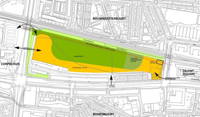 Kaart Van Gend en Loos-terrein.