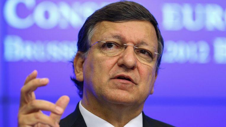 Jose Manuel Barroso afgelopen vrijdag in Brussel. Beeld EPA
