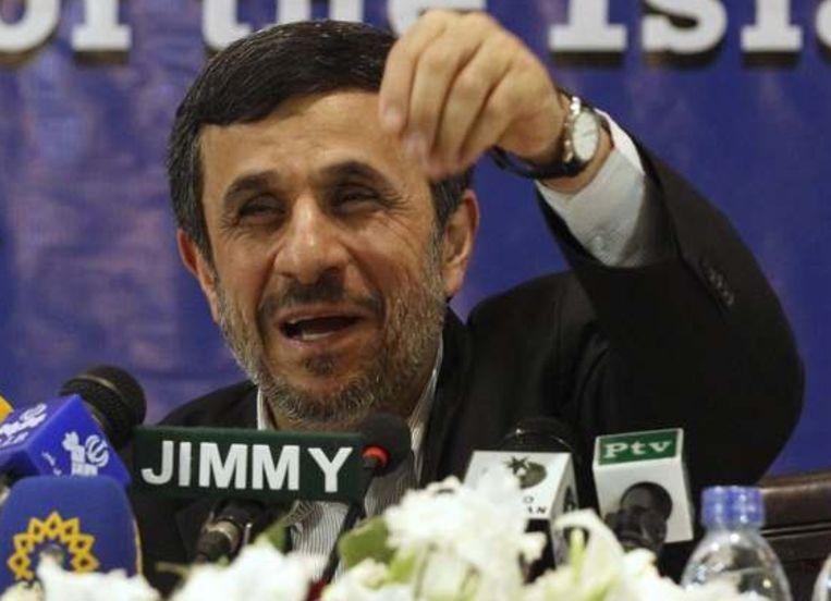 De drang van Israël om Iran aan te vallen is 'kinderachtig', stelde de Iraanse president Mahmoed Ahmedinejad in november. Beeld reuters