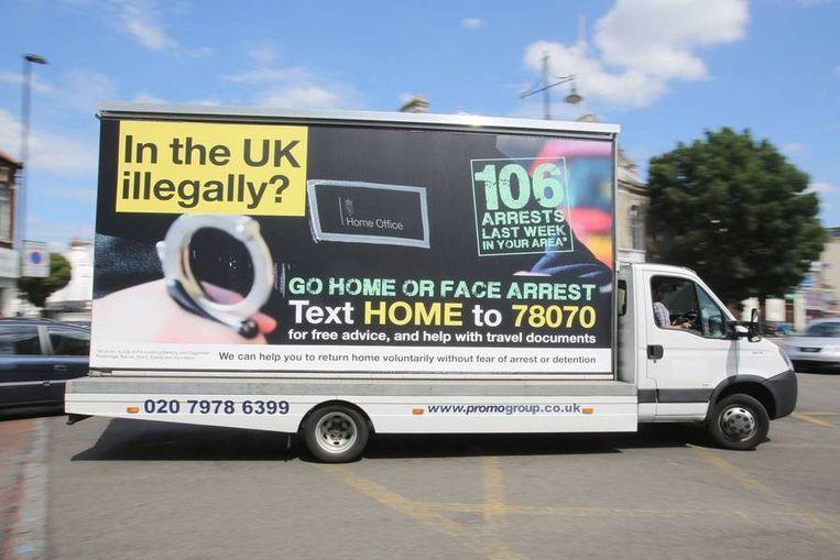 Niet de slogan, maar de misleidende arrestatiecijfers deden de reclamewaakhond struikelen over de campagne. Beeld Kos