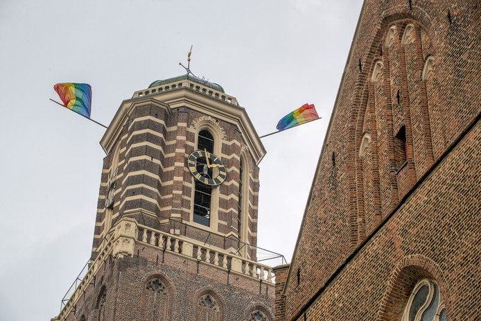 De Regenboogvlag aan de Peperbus. Foto: Frans Paalman