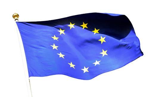De vlag van de Europese Unie.