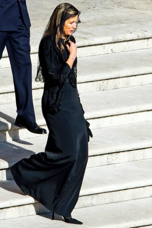Máxima, destijds nog prinses, bezocht in maart 2013 samen met Willem-Alexander de inauguratie van paus Franciscus.