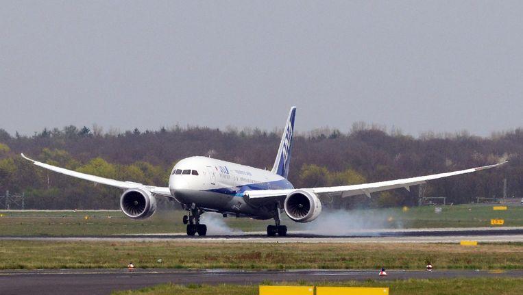 Een boeing 787-800 Dreamliner in Duitsland. Beeld epa