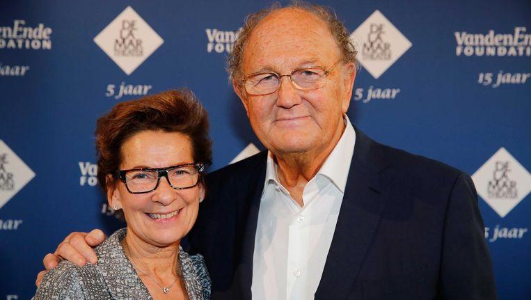 Joop van den Ende en zijn vrouw Janine. Beeld anp
