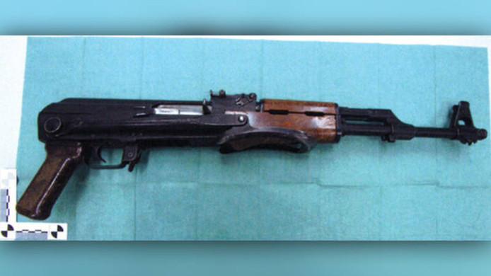 Het wapen dat werd aangetroffen in de kelder van Jaouad A.