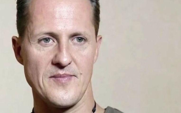 Een screenshot van Michael Schumacher tijdens het interview op 30 november 2013.