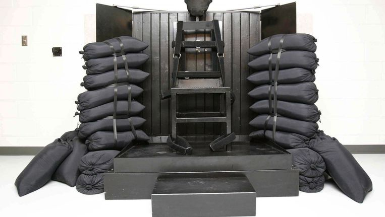 De executiekamer in Utah, waar Ronnie Lee Gardner op 18 juni 2010 door een vuurpeloton werd geëxecuteerd. Hij was pas de derde ter dood veroordeelde in meer dan dertig jaar die op deze manier terecht werd gesteld.