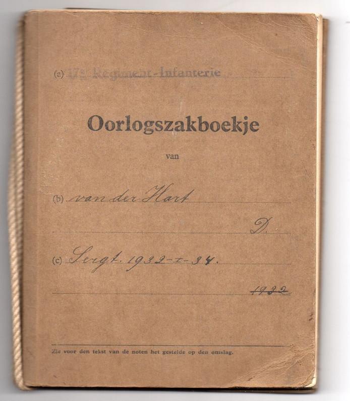 Oorlogsdagboekje van Dirk van der Hart