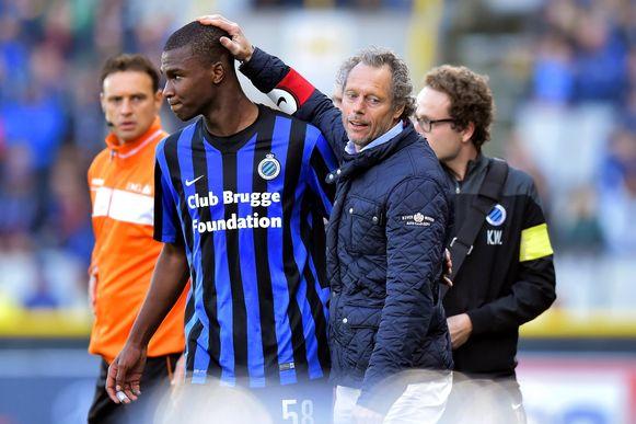 Oulare en Michel Preud'homme bij Club Brugge.