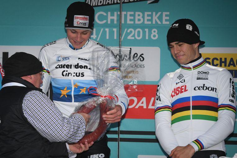 Van der Poel en Van Aert.