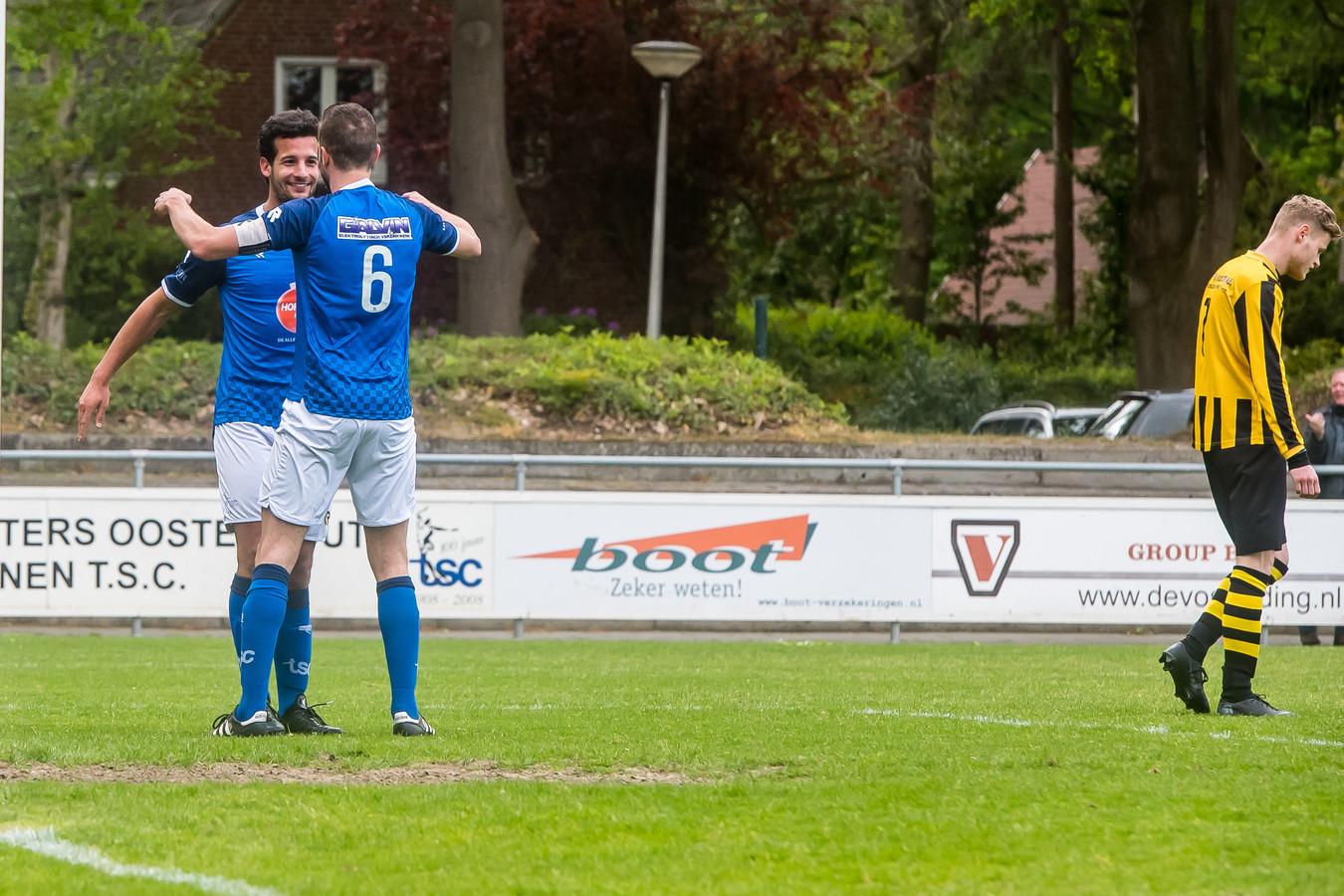Een foto van een wedstrijd van het eerste elftal van TSC. Foto: Joris Knapen / Pix4Profs