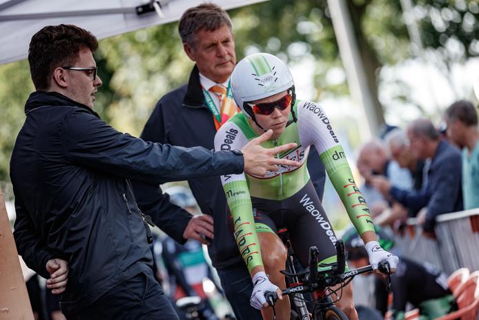 Thalita de Jong tijdens de Boels Ladies Tour.