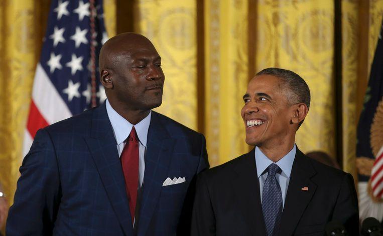 Michael Jordan met gewezen VS-president Barack Obama.