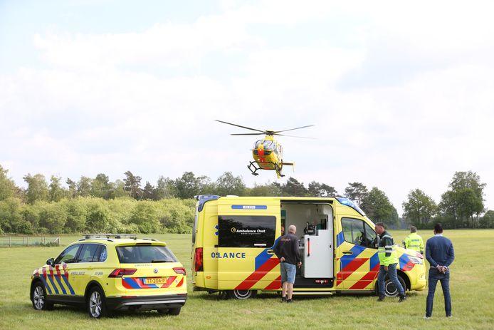 Zaterdagmiddag is een traumahelikopter opgeroepen in Hellendoorn.
