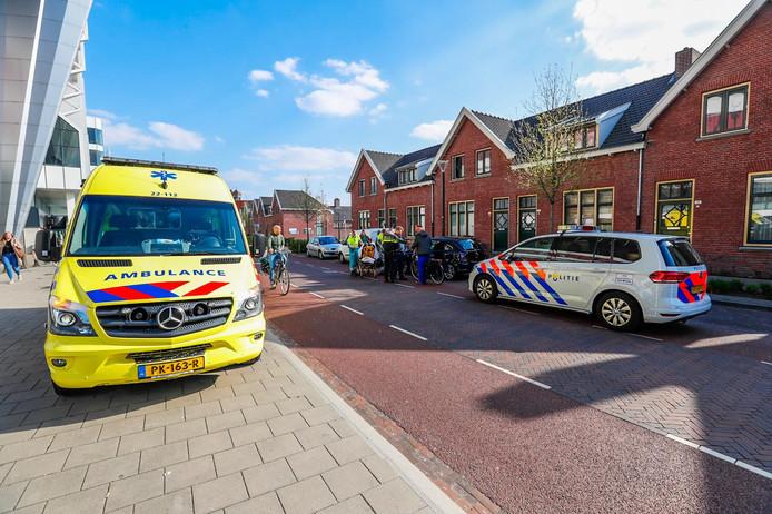 Vrouw van scooter gereden in Eindhoven