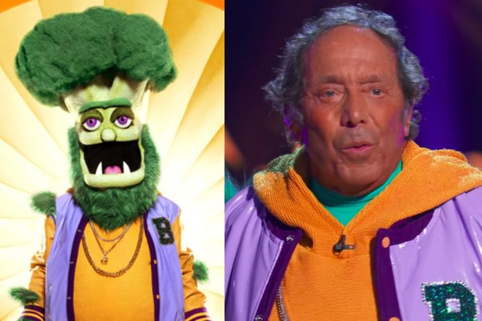 Paul Anka als de broccoli in The Masked Singer.
