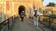 Gasfles vat vuur aan Fort van Kessel