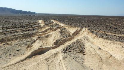 Vrachtwagen beschadigt 2.000 jaar oud werelderfgoed in Peru