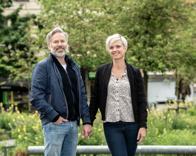 Antwerpen - Marianne Devriese met haar partner Steve Geerts