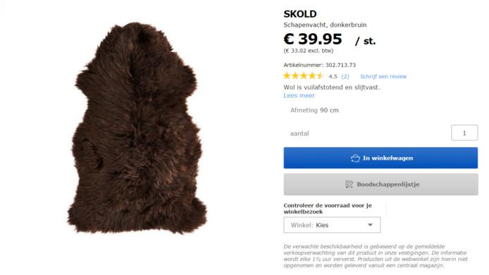 De schapenvacht van Ikea