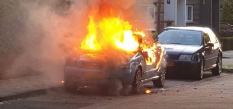 Auto in vlammen opgegaan in Den Bosch