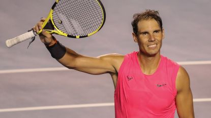 Nadal loopt in eigen woonkamer 'rugblessure' op tijdens virtueel tennistoernooi op PS4, maar al snel kwam er verlossend nieuws