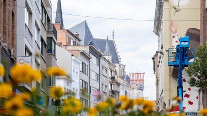 """Kunstenaars sieren autoluw gedeelte Onze-Lieve-Vrouwestraat met street art: """"Winkelen aangenamer maken"""""""