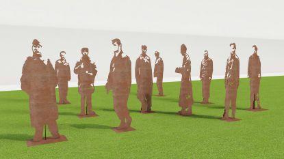 Kunstenaar Andy Verschoote uit Zedelgem mag 10 silhouetten plaatsen in Vloethemveld