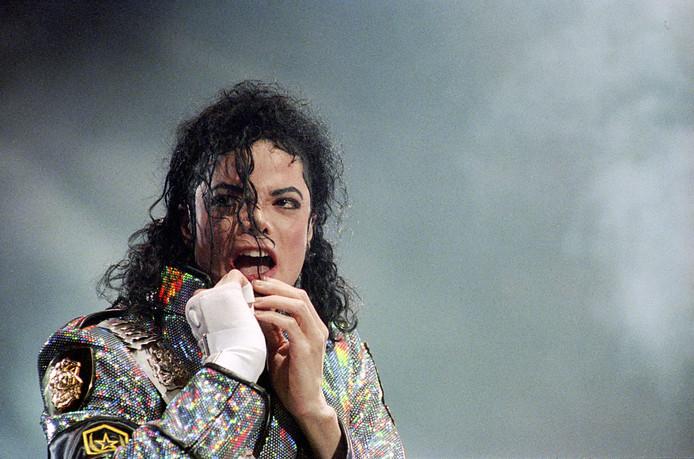 Michael Jackson tijdens zijn concert in de Rotterdamse Kuip (1992).