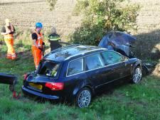 Gestolen auto teruggevonden in sloot langs de A59 bij Waalwijk