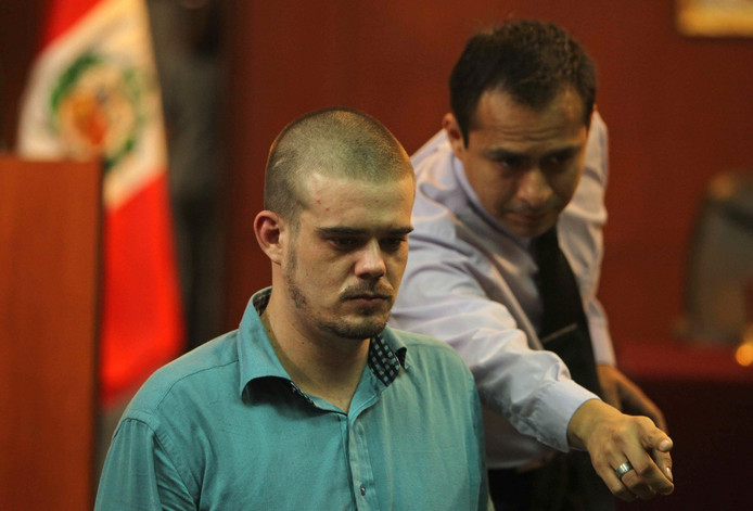 Joran van der Sloot in 2012 in de rechtbank in Lima.