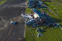 Het natuurgeweld veegde de luchthaven van Sulphur in Lousiana van de kaart.